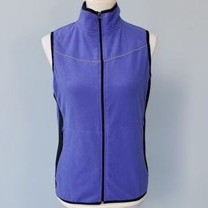 Prospirit Women's Lavender Fleece Zip up Vest Sz M